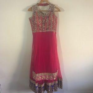 Indian Pakistani Hot Pink Dress